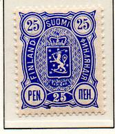 PIA - FINLANDIA - 1885  : Uso Corrente - Stemma  (Yv 24) - Unused Stamps