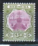 Bermuda 3d Single Stamp From The 1902 Dry Dock Definitive Set. - Bermuda