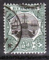 Bermuda ½d Single Stamp From The 1906 Dry Dock Definitive Set. - Bermuda