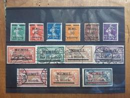 OCCUPAZIONE TEDESCA 1920 - MEMEL - Amministrazione Francese - 13 Valori Misti Nuovi */timbrati + Spese Postali - Zona Francese