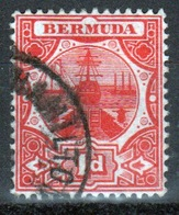 Bermuda 1d Single Stamp From The 1906 Dry Dock Definitive Set. - Bermuda