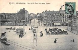 Dunkerque Tram Tramway Gare 127 PTD Pub Amer Picon Chocolat Delespaul Havez Contrexéville - Dunkerque