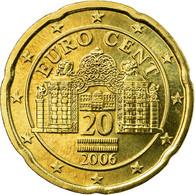 Autriche, 20 Euro Cent, 2006, SUP, Laiton, KM:3086 - Austria