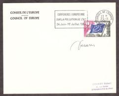 1964 - Conférence Européenne Sur La Pollution De L'air - Signature De Decaris - Oblitérations Mécaniques (flammes)