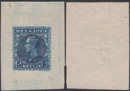 Belgique-Essai 1928-Projet Non Adapté à L'éffigie D'Albert 1er - Papier Mince Avec Nom Du Graveur Mauquoy  (DD) DC2955 - Proeven & Herdruk