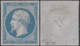 France - Yv 15 Sans Gomme - Superbe - Certificat Calves  (DD) DC2963 - 1853-1860 Napoleon III