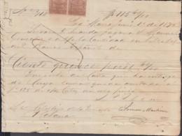 E6274 CUBA SPAIN 1875 INGENIO MARIA SUGAR MILLS INVOICE GIROS REVENUE - Historical Documents