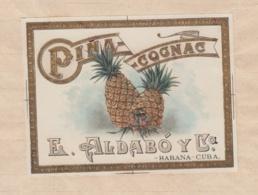 E6275 CUBA 1918 DOC REGISTRO DE MARCAS Y PATENTES. ALDABO COGNAC PIÑA. - Historical Documents