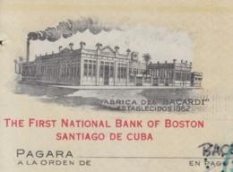 E6277 CUBA 1950 COMPAÑIA RON BACARDI INVOICE + REVENUE TIMBRE . - Documentos Históricos