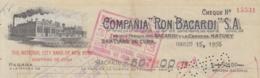 E6278 CUBA 1956 COMPAÑIA RON BACARDI INVOICE + REVENUE TIMBRE . - Documentos Históricos
