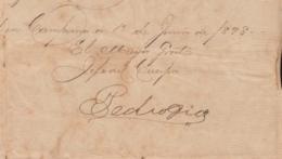 BE712 CUBA 1898 INDEPENDENCE WAR SIGNED DOC MAYOR GENERAL PEDRO DIAZ. - Autógrafos