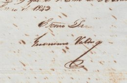 BE721 CUBA SPAIN 1843 SIGNED DOC CAPTAIN GENERAL GERONIMO VALDES. - Autógrafos