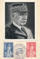 D37007 CARTE MAXIMUM CARD 1943 FRANCE - MARÉCHAL PETAIN WW II - LINEN IMAGE LIN CP ORIGINAL - NO LINING - WW2