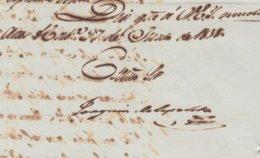 BE722 CUBA SPAIN 1838 SIGNED DOC CAPTAIN GENERAL JOAQUIN DE EZPELETA. - Autógrafos