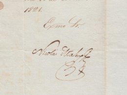 BE723 CUBA SPAIN 1821 SIGNED DOC CAPTAIN GENERAL NICOLAS MAHY - Autógrafos