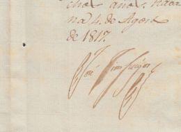 BE729 CUBA SPAIN 1817 SIGNED DOC CAPTAIN GENERAL JOSE CIENFUEGOS. - Autógrafos