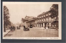 POLAND Warszawa Krakowskie Przedmiescie  Tram Ca 1920 OLD POSTCARD - Pologne