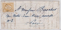 """LAC - N°13 A  OBL """"E"""" + 1520 / PARIS MAI 1857 - Marcophilie (Lettres)"""
