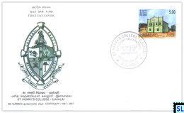 Sri Lanka Stamps 2007, St. Henry's College, Ilavalai, FDC - Sri Lanka (Ceylon) (1948-...)