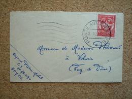 Enveloppe En Franchise Postale Militaire Timbre FM Oblitéré Poste Aux Armées 1953 - Postmark Collection (Covers)