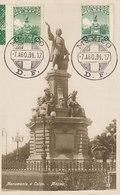 D37009 CARTE MAXIMUM CARD RR 1934 MEXICO - STATUE COLUMBUS COLON - TWO STAMPS CP BELENGUER ORIGINAL - Christophe Colomb