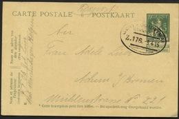 Entier CP Belge En Feldpost Obl. Ambt GENT-COURTRAI Zug 176 Vers L'All. 1915 - WW I