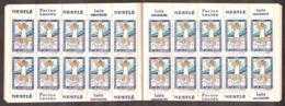 1929 - Carnet Complet Neuf ** Contre La Tuberculose - Haute-Garonne - Nestlé - Erinnophilie