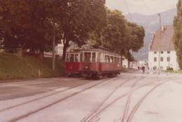 Chemins De Fer - Tramway Trains - Photographie - Autriche - Motrice Innsbrück Bergisel - 1979 - Tramways