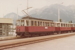 Chemins De Fer - Tramway Trains - Photographie - Autriche - Motrice Gare Innsbrück Le Stubai - 1979 - Tramways