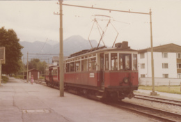 Chemins De Fer - Tramway Trains - Photographie - Autriche - Motrice Gare Igls Pour Innsbrück - 1979 - Tramways