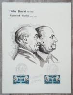 FDC 1971 - YT Aérien N°46 - DIDIER DAURAT / RAYMOND VANIER - Sur GRAVURE MAZELIN - FDC