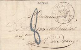 LETTRE. 1832 BAYEU BLEUE /  2 - Marcophilie (Lettres)