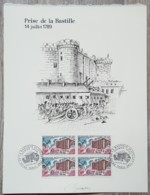 FDC 1971 - YT N°1680 - PRISE DE LA BASTILLE - Sur GRAVURE MAZELIN + Signature DECARIS - FDC