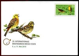 41383) BRD - USo ? - * Ungebraucht - 70C  Heimische Vögel     Briefmarkenmesse Essen , Ausg.: 02.05.2019 - Buste - Nuovi