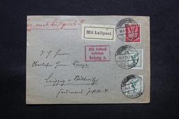 ALLEMAGNE - Enveloppe De Dresden Par Avion En 1926 Pour Leipzig , Affranchissement Plaisant - L 28292 - Storia Postale