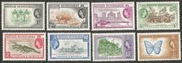 British Honduras. 1953 -1957 Country Images. SG 179-186. MNH - Britisch-Honduras (...-1970)
