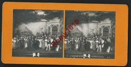 """Photo Stéréoscopique.La Terrasse Du Casino. Miss Helyett. (2e Tableau)   """"La Provocation"""" Théatre, Spectacle. - Photos Stéréoscopiques"""
