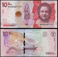 Colombia 10 ;10.000 Pesos, V. Gutierrez De Pineda - 2015 (2017) - Colombia