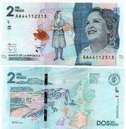 COLOMBIA 2 ; 2.000 PESOS 2015 2016 P NEW DESIGN - Colombia