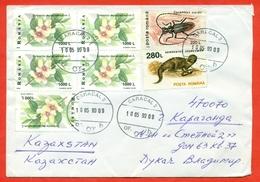 Romania 1999. Fauna & Flora. The Envelope Passed Mail. - 1948-.... Republics