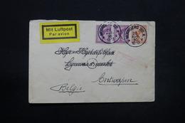 ALLEMAGNE - Enveloppe De Nürnberg Pour Anvers En 1930 Par Avion , Affranchissement Plaisant - L 28295 - Storia Postale