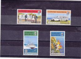 GUERNESEY 1977 SERVICES AMBULANCIERS  Yvert 148-151 NEUF** MNH - Guernesey