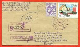Cuba 1994.  Registered  Envelope Passed Mail. - Pelicans