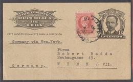 CUBA. 1939 (5 Ago). Marianao - Austria, Wien. 1c Black Stat Card Adtl . Germany - NY. Annexion Period. - Cuba