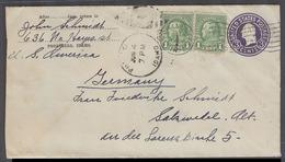USA - Stationery. 1933 (4 June). Pocatello, Idaho - Germany, Salzwedel. 3c Lilac Stat Env 2 Adtls. Nice Usage. - Unclassified
