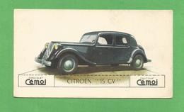 IMAGE CHOCOLAT CEMOI AUTO VOITURE VINTAGE WAGEN OLD CAR CARD CITROEN 15 CV - Chocolat