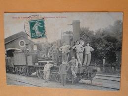 COURTALAIN  (Eure & Loir) -- Train En Gare - Loco En GROS PLAN - Détachement Du 5ème Génie De Versailles - Trains