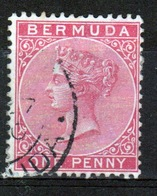 Bermuda Queen Victoria One Penny Stamp From The 1883 Definitive Set. - Bermuda