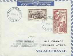 AFRICA OCCIDENTAL FRANCESA, CARTA DAKAR/BUENOS AIRES - A.O.F. (1934-1959)
