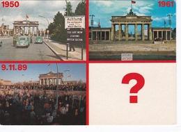 DUITSLAND 1990 Berlin Grenzübergang BrandenburgerTor Kleur Verzonden Naar Den Haag - Douane